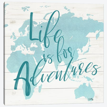 Adventure Map I Canvas Print #EMD16} by Elizabeth Medley Canvas Wall Art
