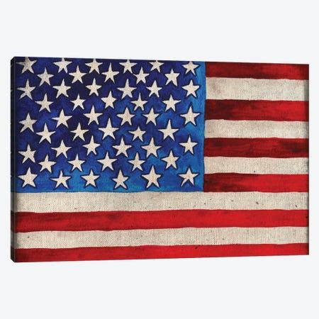 American Flag Canvas Print #EMD18} by Elizabeth Medley Canvas Art Print