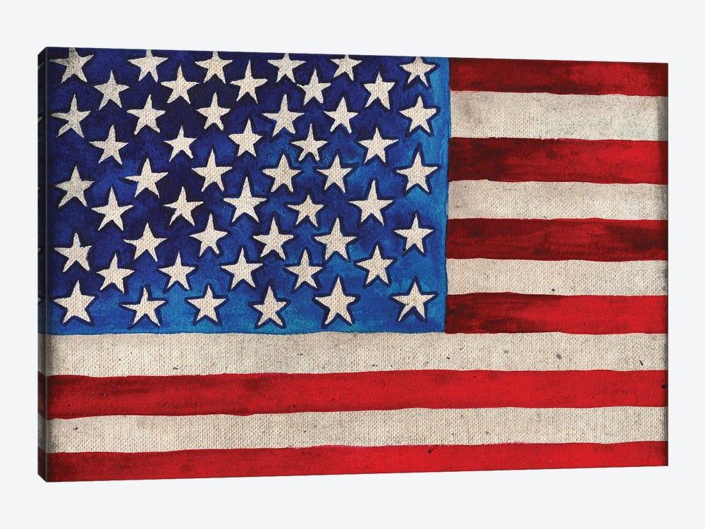 American Flag by Elizabeth Medley 1-piece Canvas Print