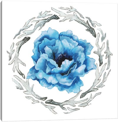 Blue Flower I Canvas Art Print