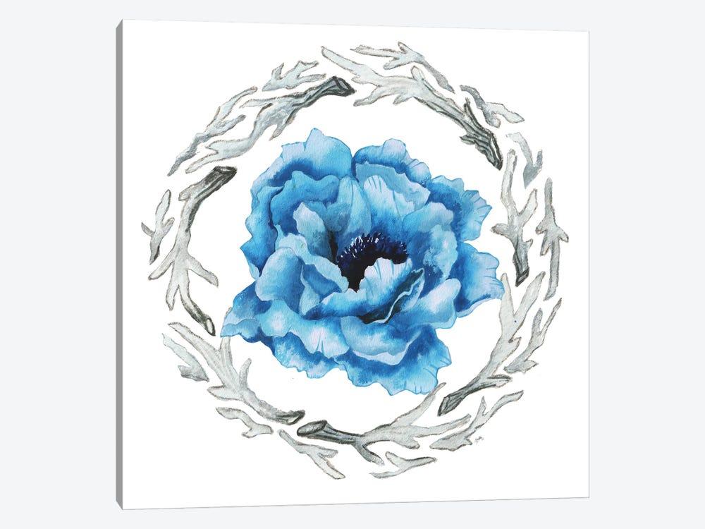 Blue Flower I by Elizabeth Medley 1-piece Canvas Art