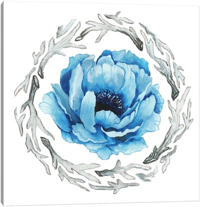 Blue Flower II Canvas Art Print