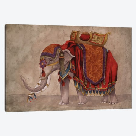 Ceremonial Elephants I Canvas Print #EMD23} by Elizabeth Medley Canvas Artwork