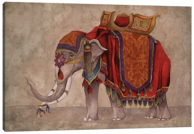 Ceremonial Elephants I Canvas Art Print