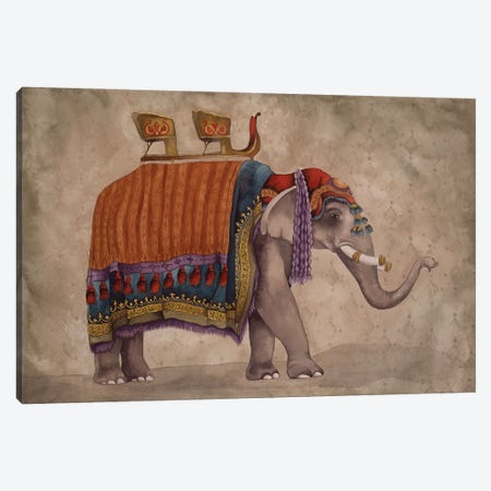 Ceremonial Elephants II Canvas Print #EMD24} by Elizabeth Medley Canvas Art Print