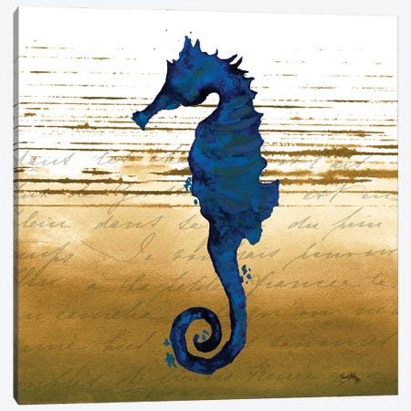 Coastal Blue III Canvas Print #EMD27} by Elizabeth Medley Art Print