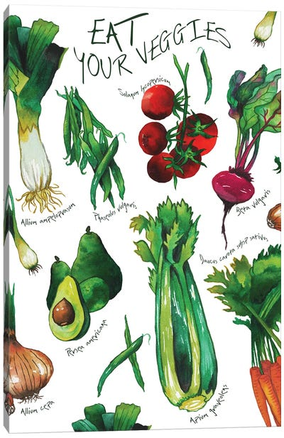 Eat Your Veggies Canvas Art Print