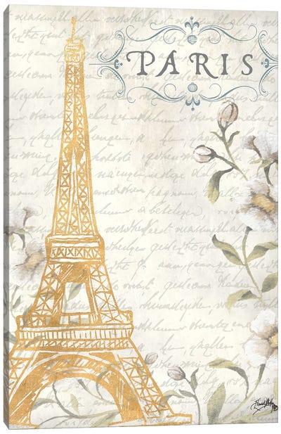 Golden Paris I Canvas Art Print