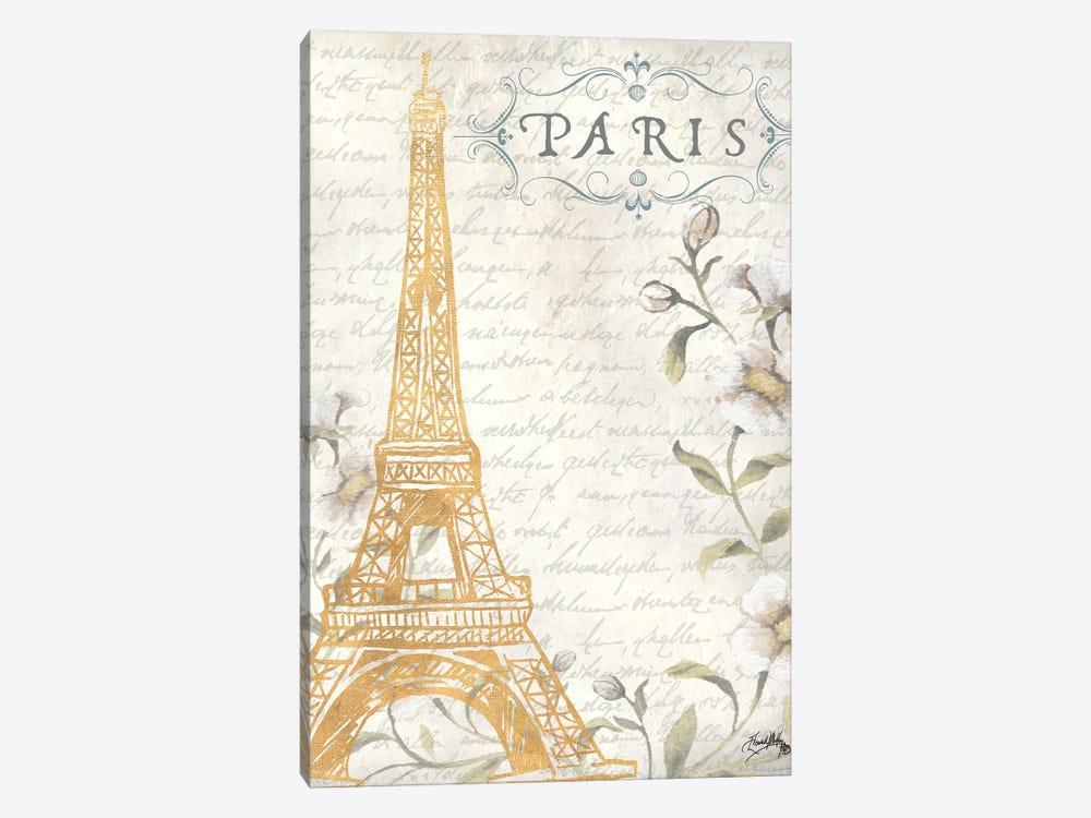 Golden Paris I by Elizabeth Medley 1-piece Canvas Wall Art