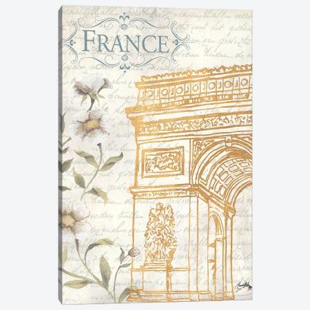 Golden Paris II Canvas Print #EMD32} by Elizabeth Medley Art Print