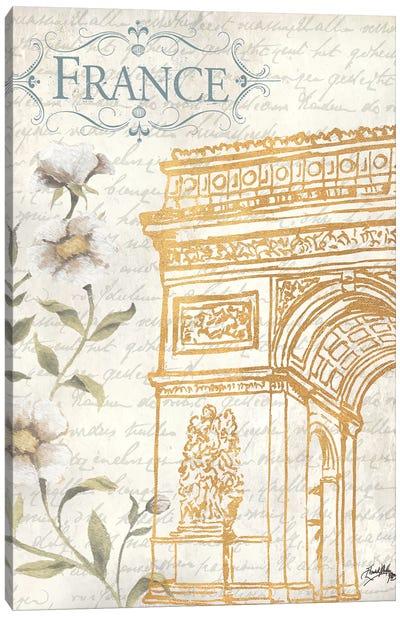Golden Paris II Canvas Art Print