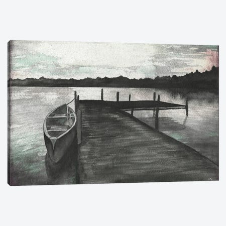 Gray Morning on the Lake Canvas Print #EMD33} by Elizabeth Medley Canvas Print