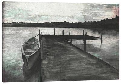 Gray Morning on the Lake Canvas Art Print