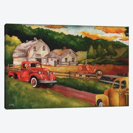Harvest Time on the Farm Canvas Print #EMD36} by Elizabeth Medley Canvas Artwork