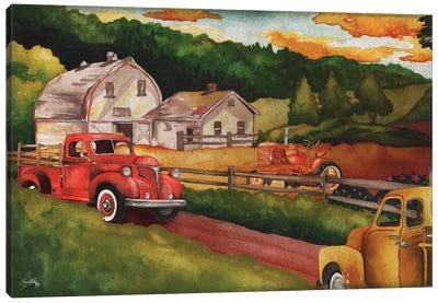 Harvest Time on the Farm Canvas Art Print