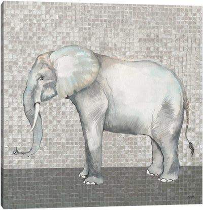 Introspective Elephant Canvas Art Print