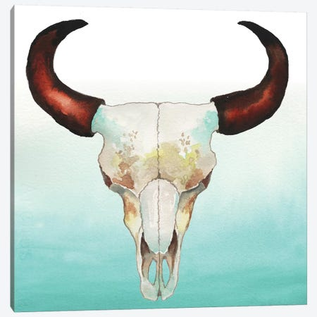 Country Skull 3-Piece Canvas #EMD3} by Elizabeth Medley Canvas Art