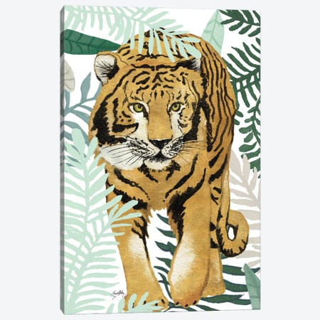Jungle Tiger I Canvas Print #EMD41} by Elizabeth Medley Canvas Art