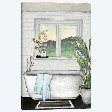 Modern Black and White Bath I Canvas Print #EMD45} by Elizabeth Medley Art Print