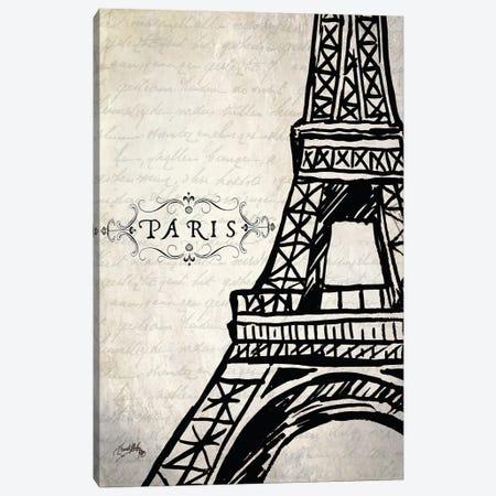 Paris Eiffel Canvas Print #EMD47} by Elizabeth Medley Canvas Print