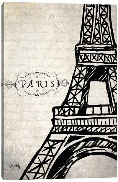 Paris Eiffel Canvas Art Print