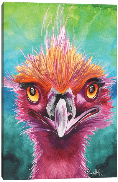 Emus of a Feather Canvas Art Print