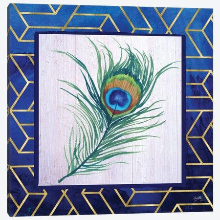 Peacock Feather I Canvas Print #EMD50} by Elizabeth Medley Canvas Art Print