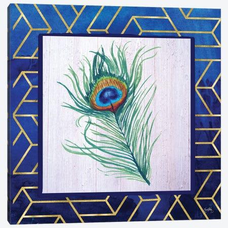 Peacock Feather II Canvas Print #EMD51} by Elizabeth Medley Canvas Print