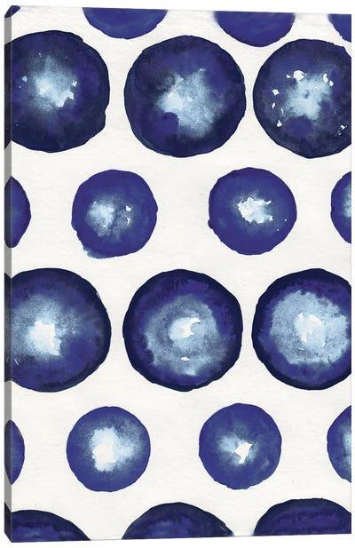 Shibori Dots Canvas Art Print