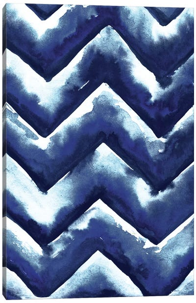 Shibori Zig Zag Canvas Art Print