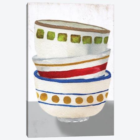 Stacked Bowls I Canvas Print #EMD63} by Elizabeth Medley Canvas Art