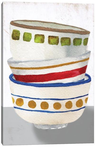Stacked Bowls I Canvas Art Print