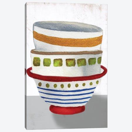 Stacked Bowls II Canvas Print #EMD64} by Elizabeth Medley Canvas Print