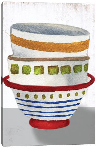 Stacked Bowls II Canvas Art Print
