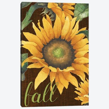 Sunflowers in the Fall 3-Piece Canvas #EMD65} by Elizabeth Medley Art Print