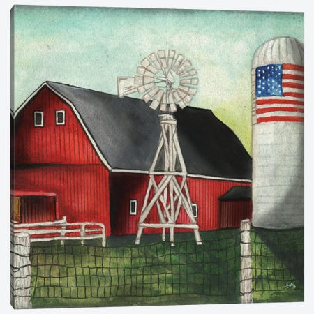 USA Silo Canvas Print #EMD70} by Elizabeth Medley Canvas Art Print