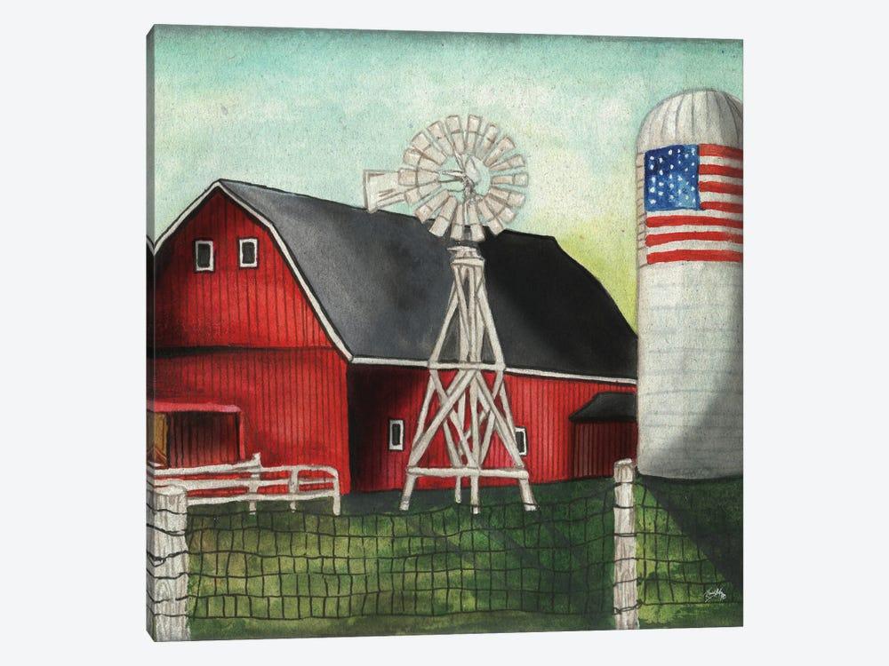 USA Silo by Elizabeth Medley 1-piece Art Print