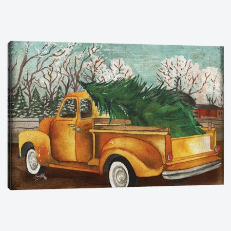 Yellow Truck and Tree III Canvas Print #EMD73} by Elizabeth Medley Canvas Print