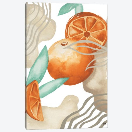 Art Deco Orange Canvas Print #EMD74} by Elizabeth Medley Canvas Artwork