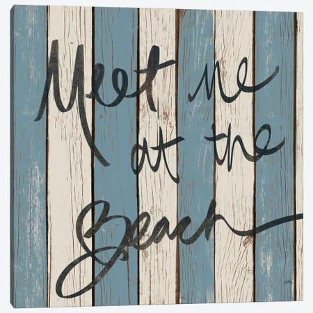 Beach Words II Canvas Print #EMD77} by Elizabeth Medley Canvas Artwork