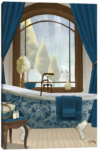 Blue View II Canvas Art Print