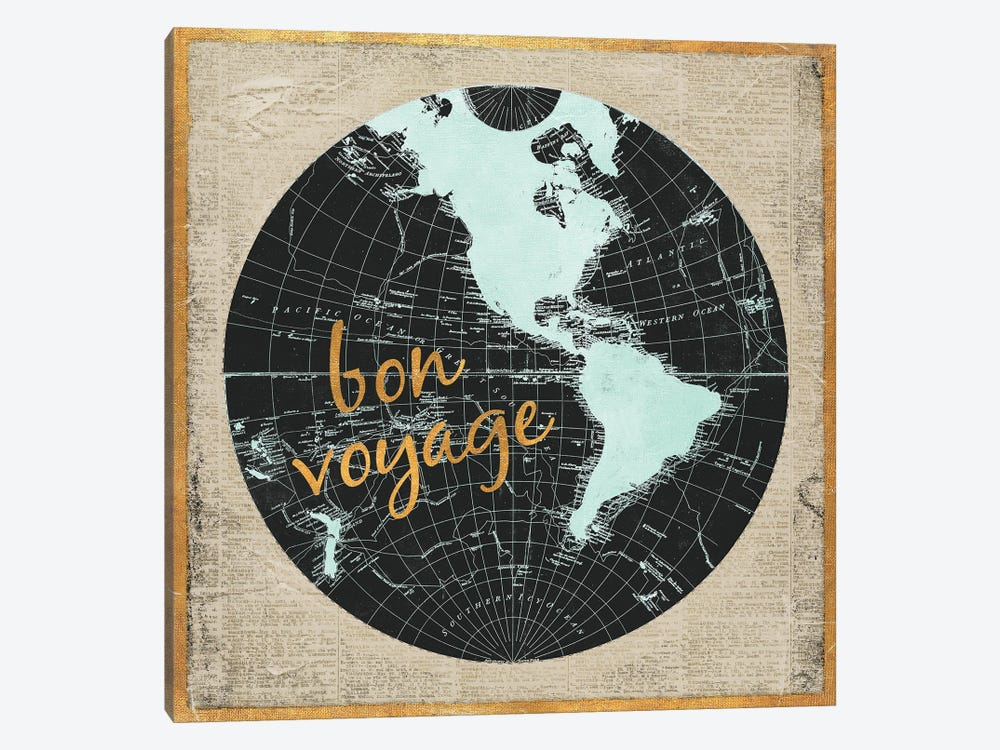 Bon Voyage World I by Elizabeth Medley 1-piece Canvas Wall Art