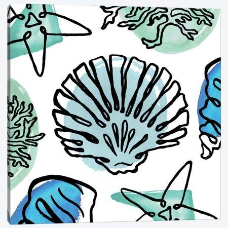 Coastal Contours Fusion I Canvas Print #EMD82} by Elizabeth Medley Canvas Art