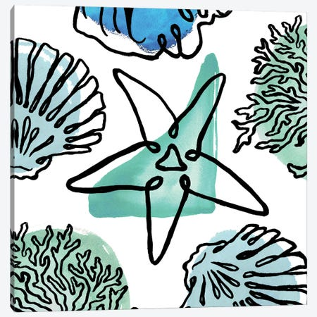Coastal Contours Fusion II Canvas Print #EMD83} by Elizabeth Medley Canvas Art