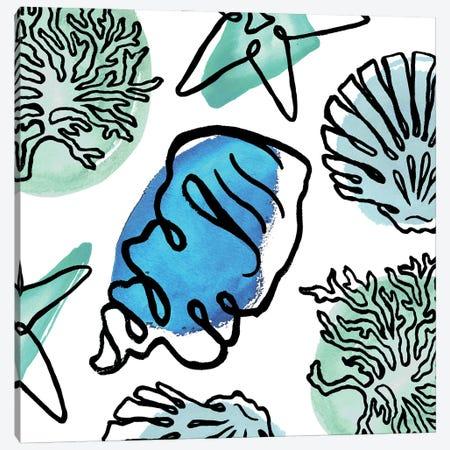 Coastal Contours Fusion III Canvas Print #EMD84} by Elizabeth Medley Canvas Art Print