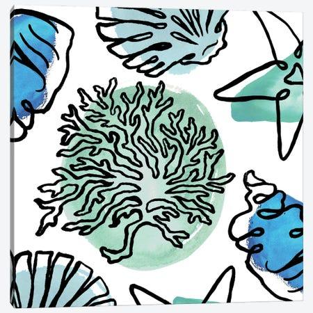 Coastal Contours Fusion IV Canvas Print #EMD85} by Elizabeth Medley Art Print