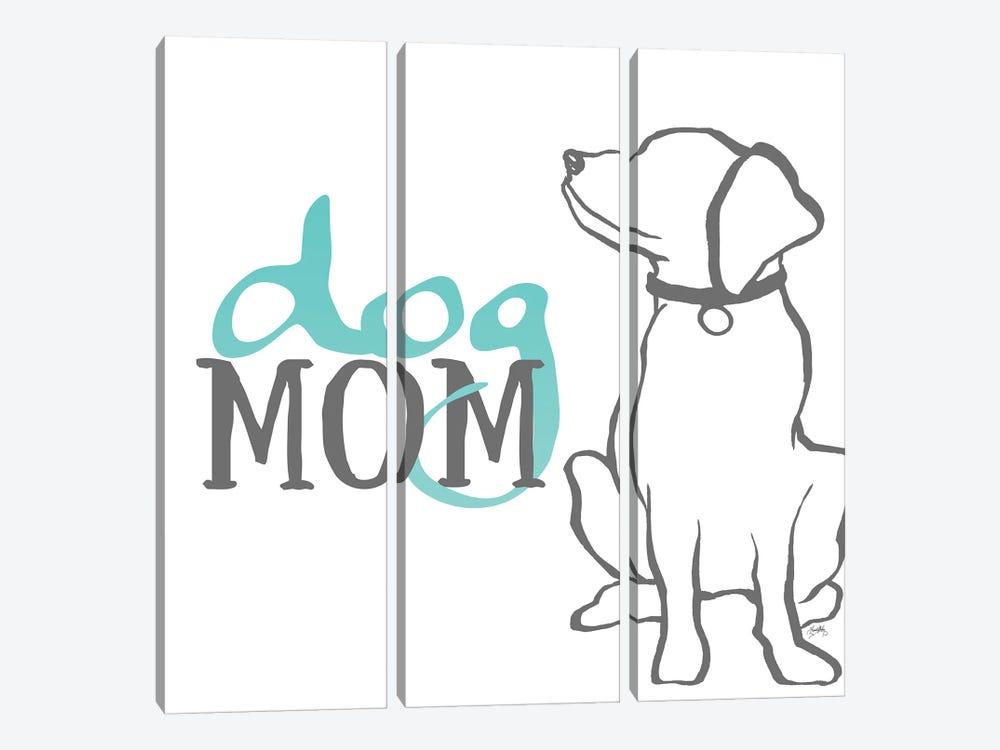 Dog Mom by Elizabeth Medley 3-piece Canvas Wall Art