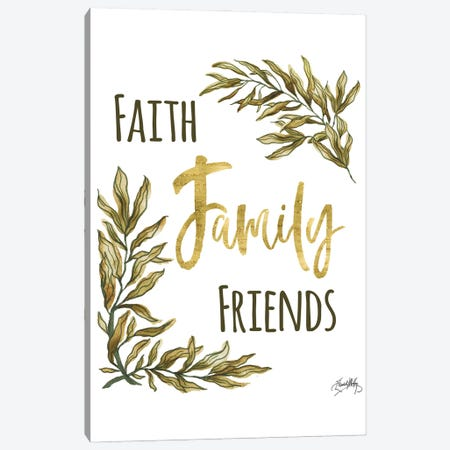 Faith Family Friends Canvas Print #EMD97} by Elizabeth Medley Canvas Wall Art