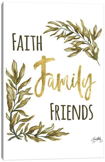 Faith Family Friends Canvas Art Print