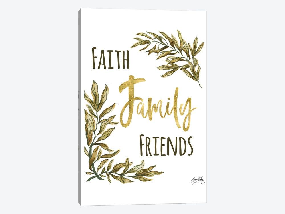 Faith Family Friends by Elizabeth Medley 1-piece Canvas Artwork